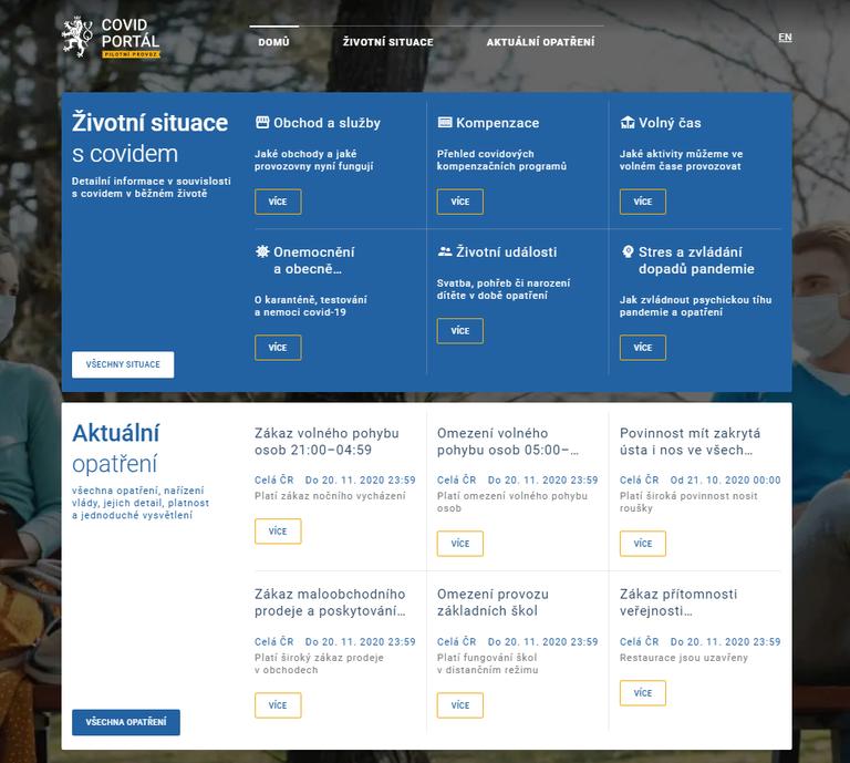 Informační Covid Portál zahájil zkušební provoz