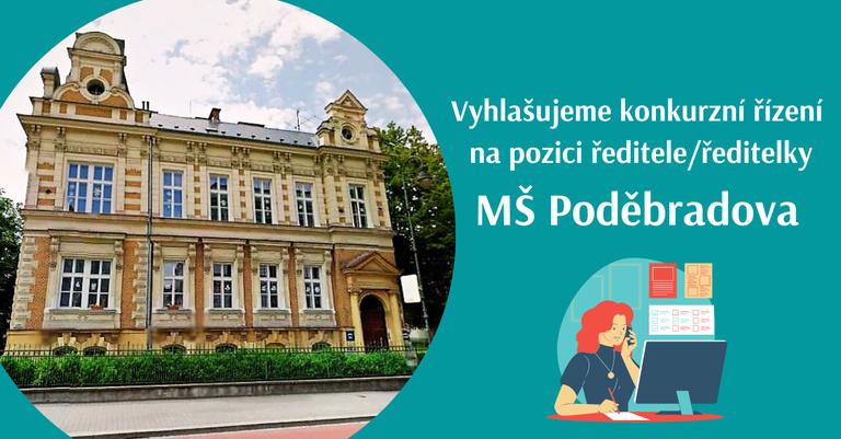 Konkurzní řízení na pozici ředitele/ředitelky MŠ Poděbradova