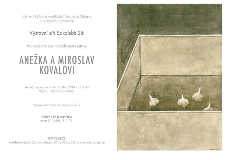 Pozvánka na vernisáž výstavy manželů Kovalových