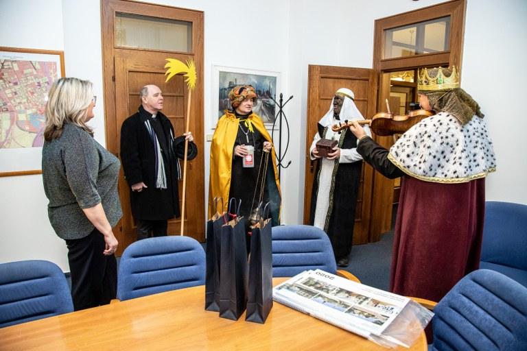 Radnici Moravské Ostravy a Přívozu navštívili Tři králové
