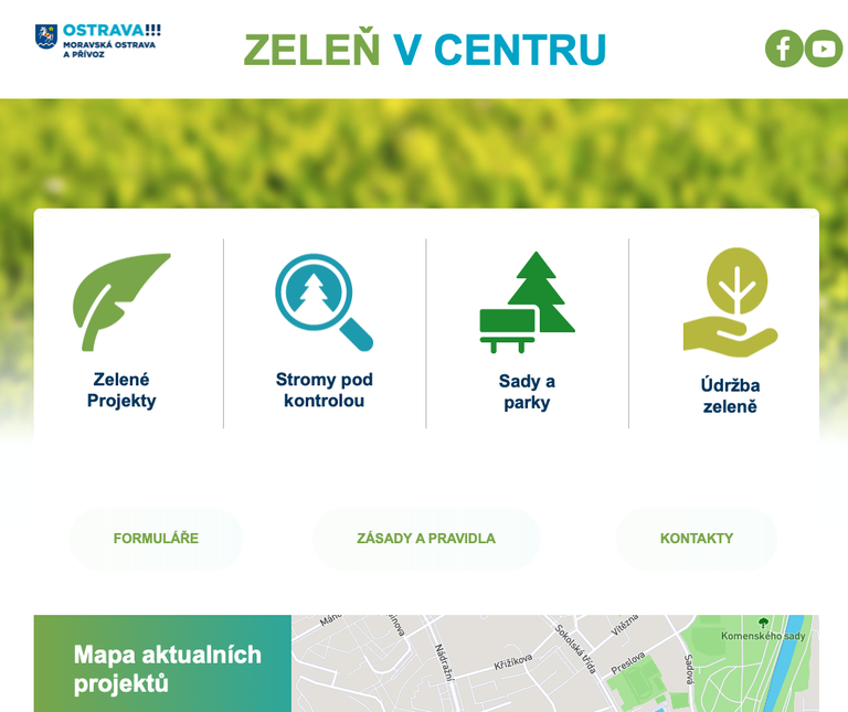 Spustili jsme nový web o zeleni v centru