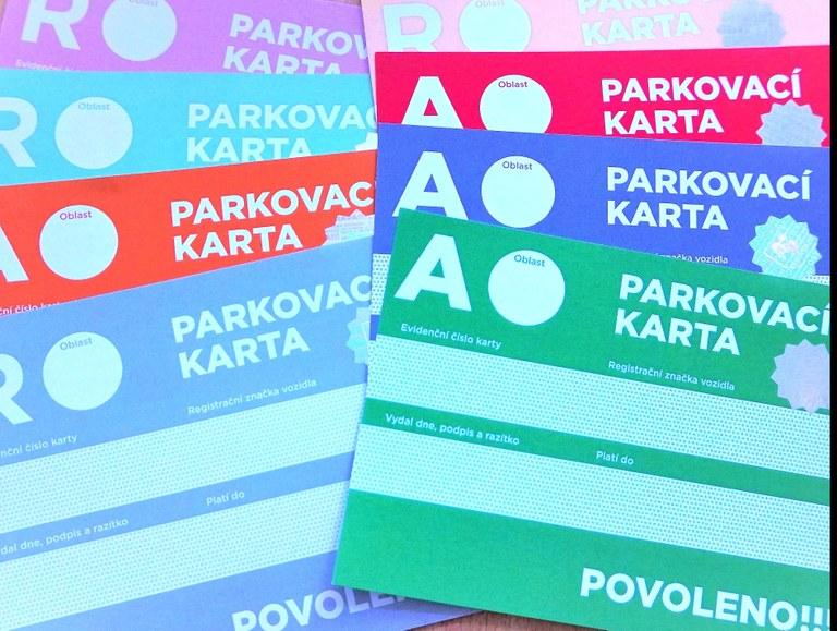 Výdej parkovacích karet na rok 2022
